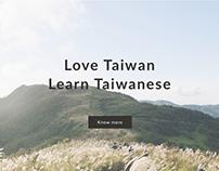 Taiwanese tutor landing page