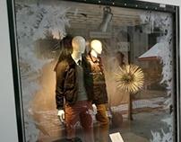 Snowed showcases for MARKS & SPENCER. Digital printing