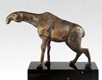 "Bronze statue of ""an animal"" - limited edition original"