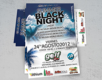 Flyer for Summer Black Night