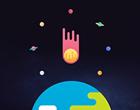 Space icon/vector set