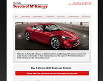 Toyota of McKinney:Web revision- Same Build - New Style