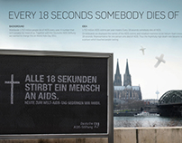 Every 18 seconds somebody dies of AIDS.