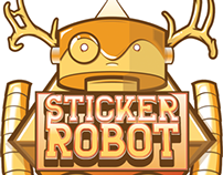 Sticker Robot | Illustrative Logo