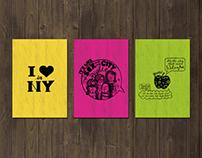 I Love in New York Postcard Set