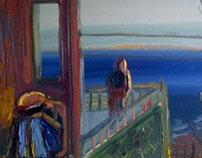 'expectation' mixed media on canvas