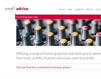 SMSF Advice   Website architecture and design