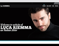Concept of Luca Riemma website