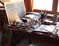 The studio of the artist