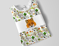 Many different forest's prints for kids