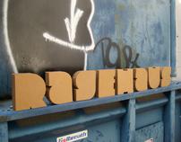 RageHaus Logotype + Cardboard Letters