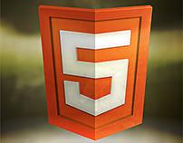 HTML5 badge illustration