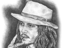 Illustration - Graphite Pencil - Johnny Depp