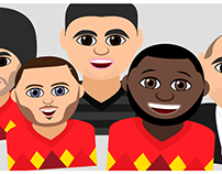 Emojis of the Belgian National Football team
