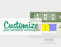 Web-based watch customisation.