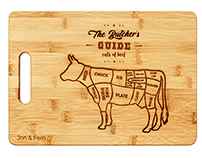 The Butcher's Guide Chopping Board