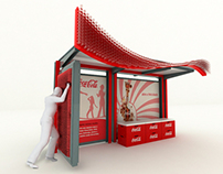 Coca-Cola Bus stop