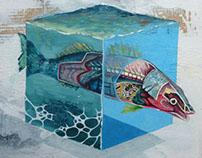 Series of three paintings