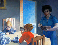 Oil paintings on canvas - Friends and family