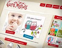 Card Whishes - webstore design