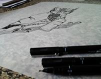 Guerrilheira da morte - Serigrafia