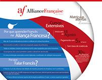 Aliança Francesa SP: Cursos e campanhas de matrícula