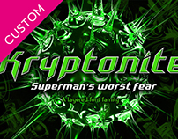 CUSTOM FONT: Kryptonite