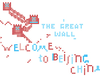 Cross Stitch about Beijing