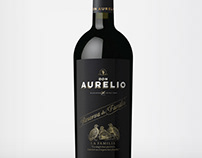 DON AURELIO RESERVA FAMILIA WINE LABEL DESIGN