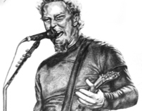 Illustration - Graphite Pencil - James Hetfield