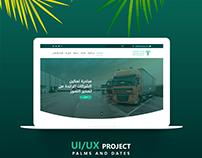 Palms & Dates - Landing Page | UX/UI Design
