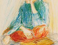 pastel sketches