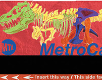 Dinosaur Metrocards