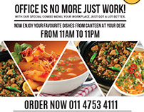 Flyer design - The canteen