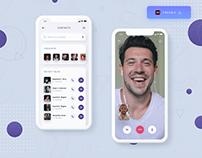 Video calling app UI design - (Freebie)