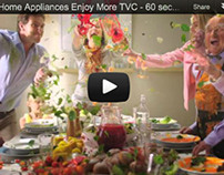 Food styling for Samsung TVC