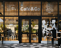 cafe & co -Cairo Festival (3d visualization)
