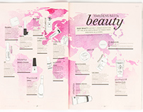 Beauty Map for Daisy Beauty magazine (Feb 2015)