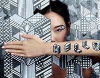 typo & Lip art for Kraftmetix Exhibition