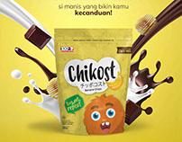 CHIKOST: Banana Chips Packaging & Digital Banner