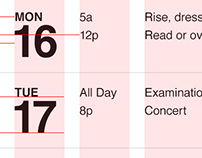 Agenda Calender - iPhone App