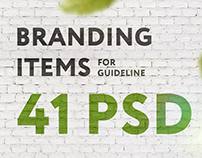 Branding Items for guidelines | 41 PSD