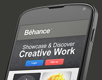 Behance Network android app re-design