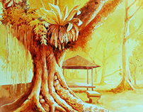 My watercolour painting-Trees