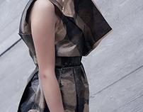 Obiekt fotograficzny - papierowa sukienka