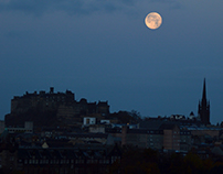 Supermoon over Edinburgh