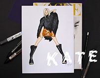 i-D Kate / Fashion Illustration