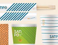 Sanpo - logo, lD visual e embalagens