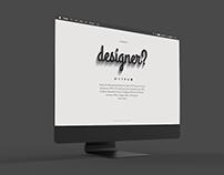 Personal portfolio landing page - redesign