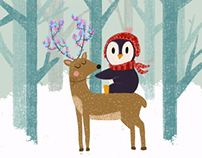 Holiday illustration 2017